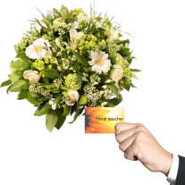 Bouquet with Floral voucher